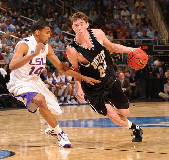 Gordon Hayward (pictured), Matt Howard, Avery Jukes, Andrew Smith <br><br>Hayward's national rep blew up this summer when he starred on the U.S.' gold-medal-winning entry in the U19 World Championships in New Zealand. He's arguable the country's sweetest-shooting big man. Howard  is among the best power forwards in the mid-major ranks, and he'll hope to get help in the low post from Smith, a 6-11 freshman.