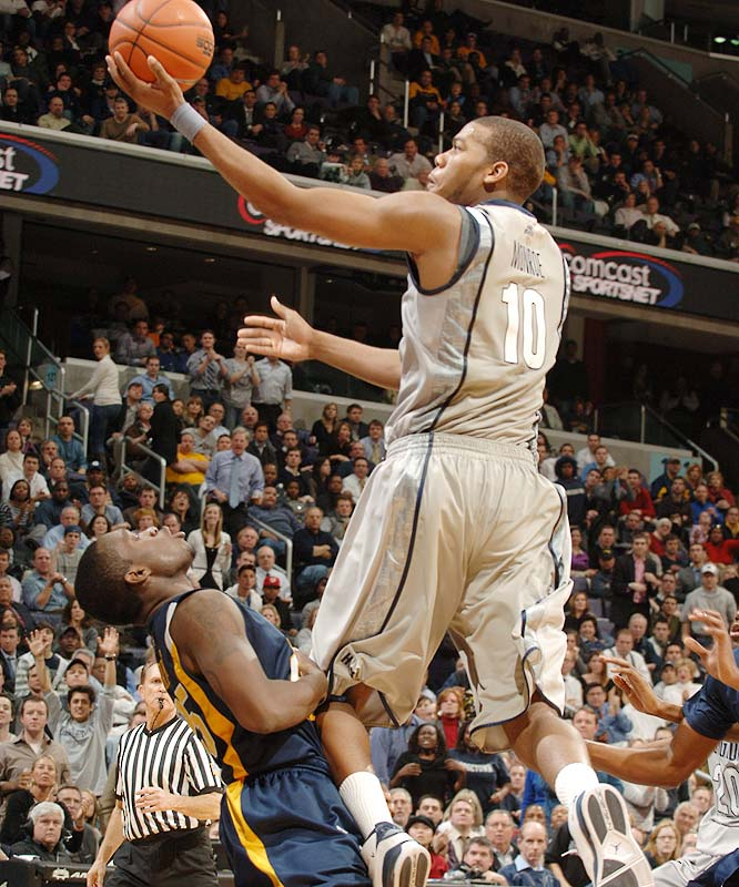 Greg Monroe (pictured), Hollis Thompson, Julian Vaughn, Henry Sims, Nikita Mescheriakov<br><br>Monroe is among the nation's most skilled big men -- he shoots 57.2 percent from the field, dishes out 2.6 assists per game, and even averaged a team-high 1.8 steals as a freshman -- but he's going to need help up front. Sims, a 6-10 sophomore, and Vaughn, a 6-9 junior, will have to contribute more on the glass than they did in limited minutes last season. Thompson, a four-star wing recruit, enrolled early at Georgetown last season and should play a significant role as a freshman.