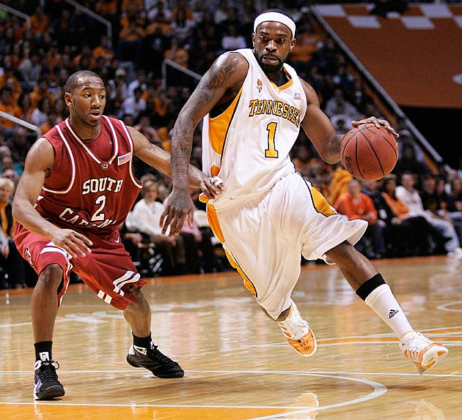 Tyler Smith (pictured), Wayne Chism, Brian Williams<br><br>Smith is the rare small forward who's capable of leading his team in scoring <i>and</i> assists.  Last season, he averaged 17.4 points and 3.3 assists for the Vols, and opted to return for his senior campaign rather than risk being a second-round draft pick. Chism is a constant double-double threat but often spends too much time, offensively, on the perimeter.