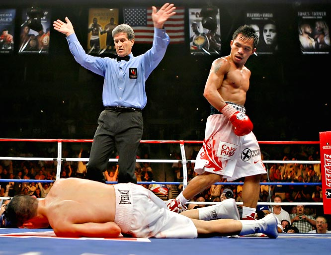 "With a ninth-round knockout of Diaz, Pacquiao became the only Filipino and Asian boxer to win five world titles in as many weight classes. He pummeled the then-WBC lightweight world champion, leaving Diaz to admit after the fight: ""It was all his speed. I could see the punches perfectly, but he was just too fast."""