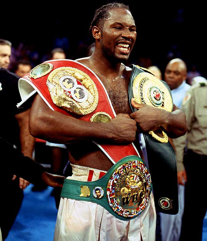 The model of the modern super heavyweight, Lewis fought big, with a good jab and huge right hand. Much of his success came from his learning and adapting throughout his career.