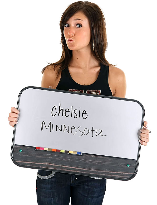 Meet Chelsie Stefano, a University of Minnesota sophomore.  Chelsie, who is not Italian despite that last name, has a big crush on Robert Pattinson.<br><br>Want to find out more? <br>Click the '20 Questions' link below.