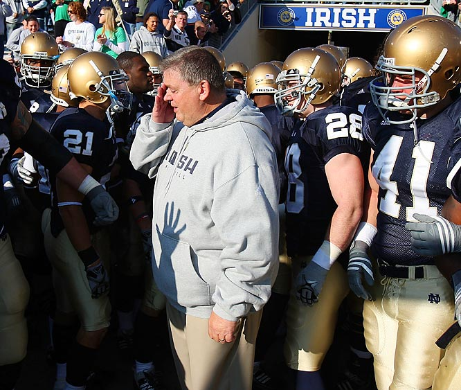 A double-overtime loss to UConn, the third of four straight losses to end 2009, set Notre Dame on course for its second straight .500 season. In so doing, it all but sealed Weis' fate. As it had throughout the offensive guru's time at Notre Dame, the Irish offense put up plenty of points and yards, but failed to secure victory.