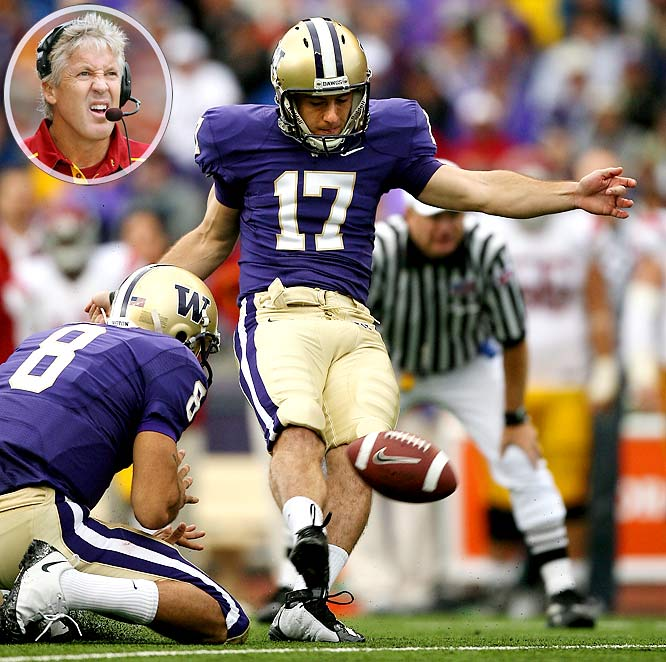 Erik Folk hit a 22-yard field goal with three seconds left as the Huskies beat the then-third-ranked Trojans. It was Washington's first win over USC since 2001, Pete Carroll's first season as Trojans coach.