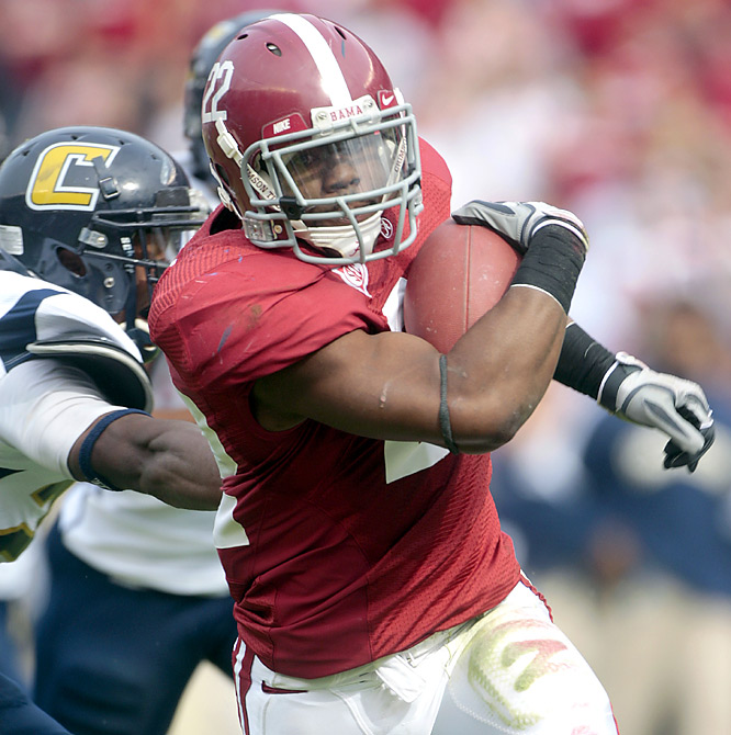 Heisman contender Mark Ingram ran for 102 yards and TDs of 25 and 40 yards in the first 20 minutes, and the Crimson Tide cruised to an easy win.