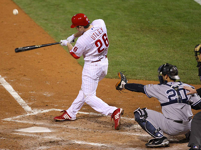 Chase Utley, who homered twice off CC Sabathia in Game 1, took him deep in the seventh inning of Game 4.