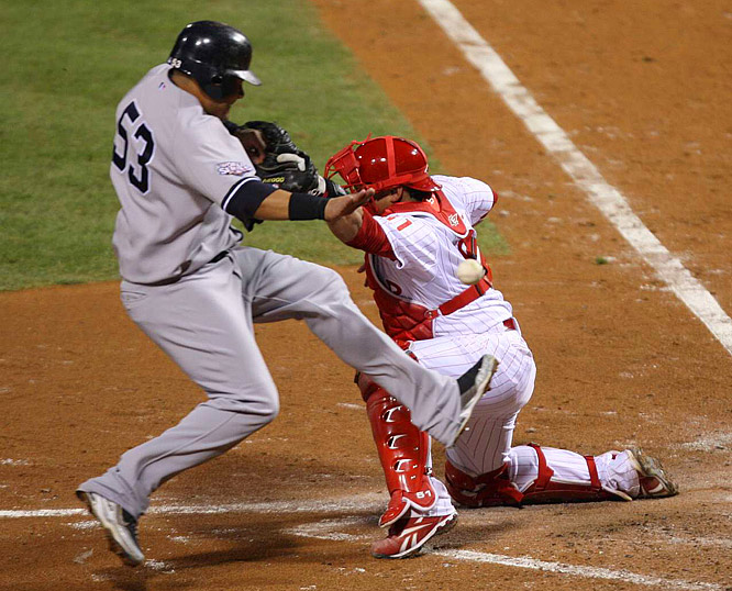 Melky Cabrera scored one of New York's two runs in the fifth.