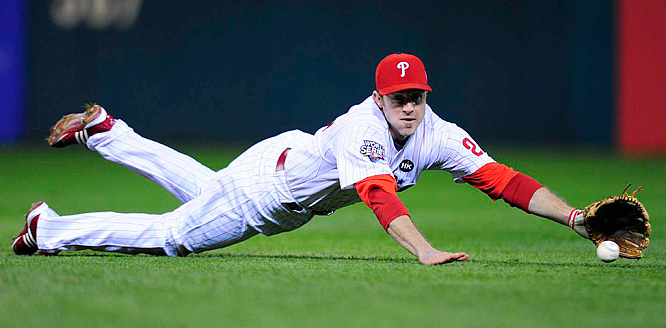 Chase Utley and the Phillies entered Sunday's game down two games to one.