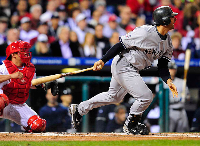 Jorge Posada had one of the Yankees four RBI in the early going.