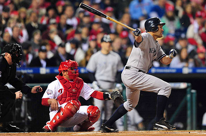 Johnny Damon continued his all-around good play, getting a single in the first and scoring on a double by Alex Rodriguez.