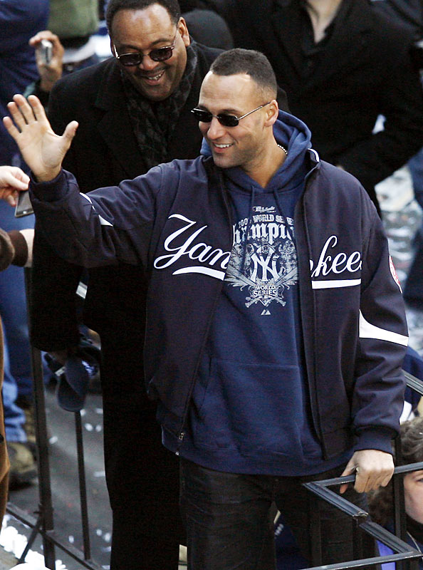"""Derek Jeter broke Lou Gehrig's all-time Yankees hit record this season and, after the last out in Game 6 declared, """"'It feels better than I remember it, man. It's been a long time."""""""