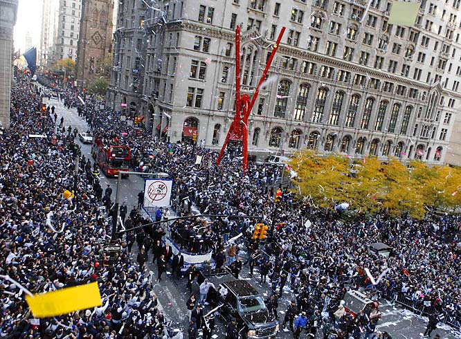 More than 2 million people were expected to attend the parade, including Gov. David Paterson, former Mayor Rudy Giuliani and rapper Jay-Z.