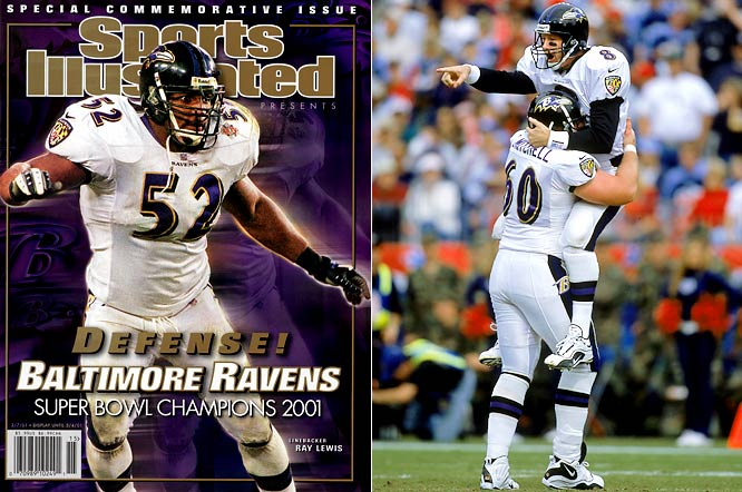 En route to winning that season's Super Bowl over the Giants, the Ravens got the momentum going by winning their final seven of the regular season. The closest game during the run -- a 24-23 thriller over Tennessee in which Baltimore drove 70 yards and scored on a two-yard pass from Trent Dilfer to Patrick Johnson with 25 seconds remaining.