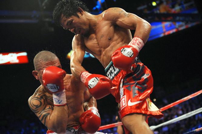 Pacquiao's ability to combine speed, agility and power allowed him to counter Cotto's jabs with crushing punches.