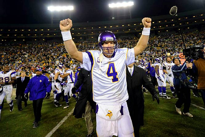 Now that we're done with the Favre Bowl, maybe we can all return to the normalcy of the regular season and just enjoy the games for ... oh, who am I kidding? As long as Favre is winning, the league revolves around him whether you like it or not.