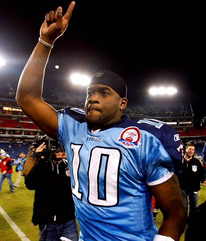 Inserted into the starting lineup after the Titans' 0-6 start, Young, who is trying to revive his career, guided Tennessee to a victory against Jacksonville. Good thing owner Bud Adams reportedly insisted on a quarterback change, because it seemed as if Jeff Fisher was intent on matching the Lions' record of 0-16 last season with Kerry Collins at quarterback.