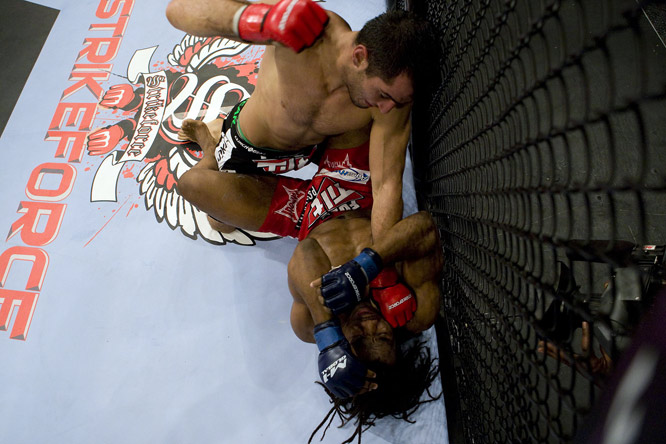 At 3:43 in the second round, the referee called the fight on strikes after Mousasi unleashed a ground-and-pound assault on Sokoudjou.