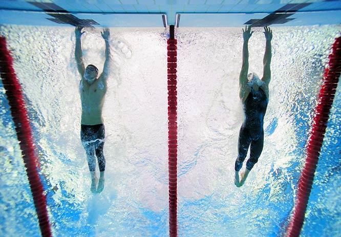 Every Michael Phelps swim in Beijing was impressive, but this one was a stunning sleight-of-hands trick. Several meters from the finish, Cavic, who'd dominated the race, was still ahead. But with one last, fast, half-stroke, Phelps touched the wall first by .01 of a second, equaled Mark Spitz's total of seven golds in one Games and all but guaranteed that he would win a record eighth (as he did in a relay the next day). With its Phelpsian brilliance, high-tech suits and upstart challenger (Cavic, swimming for Serbia, symbolized a new wave of medalists from smaller countries), the race conjoined three of the biggest Olympic stories of the era.
