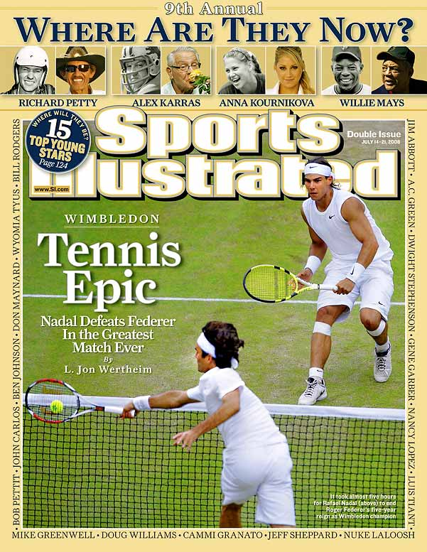 The match had it all: context, gravitas, swings in momentum, injury, recovery, sportsmanship, acts of God. And some of the highest quality tennis ever played. In the end, it was a five-hour infomercial for everything right and virtuous about the sport. Nadal ended up prevailing 6-4, 6-4, 6-7 (5), 6-7 (8), 9-7, but those prone to cliché had it right: Tennis was the real winner that day.