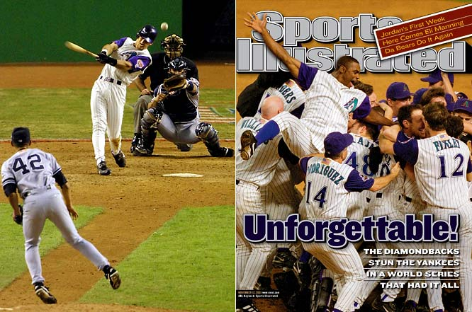 World Series Game 7 had it all. It had Derek Jeter winking at Curt Schilling to start off the game. It had Schilling and his hero Roger Clemens each pitching six shutout innings. It had the Diamondbacks taking the lead, the Yankees tying and then taking a lead of their own on Alfonso Soriano's home run. And finally, it had the Diamondbacks coming back against the seemingly invincible Mariano Rivera in the bottom of the ninth. This isn't just the best baseball game of the decade; it's one of the best games ever played.