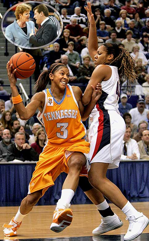"Alas, the teams last played on Jan. 6, 2007, as Pat Summitt canceled the series following a longstanding feud with Geno Auriemma, who once referred to Tennessee as the ""Evil Empire."" The decision has cost women's basketball fans the sport's best rivalry. The teams played 14 times in the 2000s, including three national championships and one Final Four (all won by UConn), and regularly drew high television ratings. The Huskies won the majority of the games during the decade (9-5), but the Lady Vols swept the final three meetings behind superstar Candace Parker (pictured)."