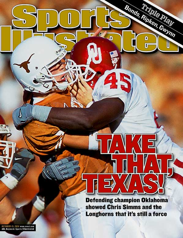 The classic Red River Shootout, played annually on the grounds of the Texas State Fair, lost much of is luster when both programs went dormant in the `90s. But late-`90s arrivals of Mack Brown (Texas) and Bob Stoops (Oklahoma) soon turned it back into one of the nation's most important games. Four times, the teams met as top-five opponents, six times the winner went on to claim the Big 12 title, and Texas is currently bidding to claim the third national championship won by one of the two schools this decade.