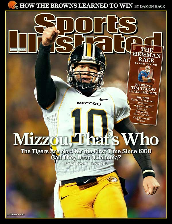 Hated rivals Missouri and Kansas hadn't met under such meaningful circumstances in decades. The winner would take the Big 12 north title, and the Tigers, thanks to LSU's loss the previous day against Arkansas, could ascend to No. 1 in the BCS standings with a win. Missouri quarterback Daniel reveled in the moment, completing 40-of-49 passes for 361 yards and three touchdowns to lead Missouri to a 36-28 win.
