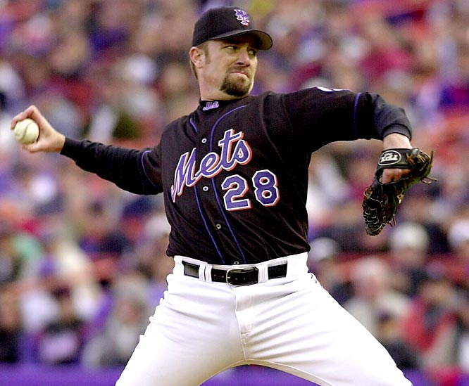 After Roger Clemens' one-hit, 15-strikeout gem at Seattle, these were the most dominant postseason outings of the 2000s. Jones' effort for the Mets (2000 NLDS Game 4 vs. Giants) was the only other postseason one-hitter of the decade. The games by Johnson (2001 NLCS Game 1 vs. Braves and World Series Game 2 vs. Yankees) and Beckett (2003 NLCS Game 5 vs. Cubs) each netted 11 strikeouts, one walk and no runs. Beckett gave up two hits to the Cubs, Johnson three each to the Braves and Yankees, and all eight hits were singles. Beckett's shutout of the Yankees in Game 6 of the 2003 World Series was a tick below the others (he allowed five hits and walked two), but it earns mention for coming in a championship-clinching game.