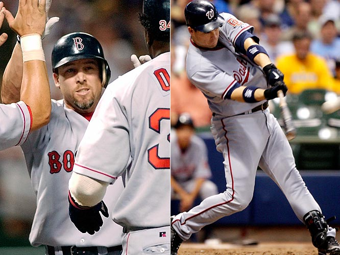 Mueller and Willingham became the 12th and 13th players, respectively, to hit two grand slams in one game. Mueller (July 29, 2003) was already 1-for-3 with a solo home run when, batting right-handed, he hit a seventh-inning slam off the Rangers' Aaron Fultz to give the Red Sox a two-run lead, then padded that lead with another homer off Jay Powell as a left-handed batter in the next inning. That made Mueller the first player to hit grand slams from both sides of the plate in a game. Willingham (July 27, 2009) was 1-for-2 with a double when he hit his first off the Brewers' Jeff Suppan in the fifth, also giving his team a two-run lead, which he also padded in the next inning with a second homer, off Mark DiFelice.