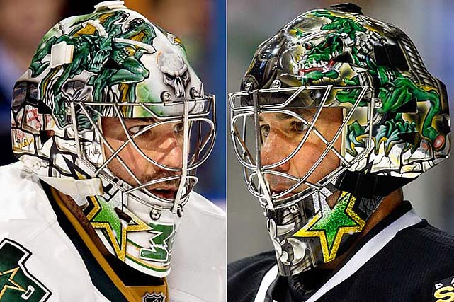 "While Turco's masks have changed over the years, one constant always remains: a gargoyle perched atop a brick wall.  The reason, according to Turco: ""Because the gargoyle is the gatekeeper, the net protector.  He's standing over top of what I want to be."""