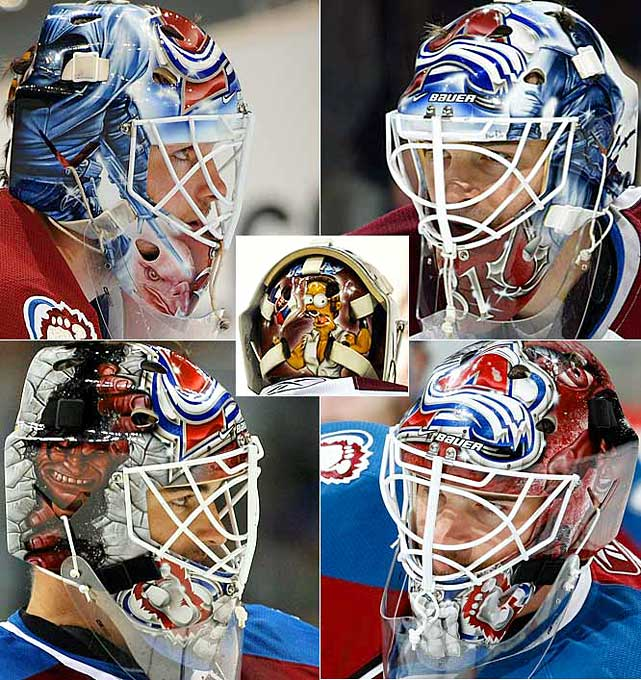 "During the 2008-09 season, Budaj had both home and away masks.  One displayed the character Altair from the popular video game  Assassin's Creed .  The other, titled ''Pure Rage'' by the mask's designer, David Gunarsson, featured a furious ''Red'' Hulk.  However, Budaj is probably best known for the depiction of Ned Flanders from  The Simpsons  on the back of his mask. Being a devout Christian, Budaj was given the nickname ""Ned"" by an equipment manager years ago, and Flanders has always found a place on his mask since."