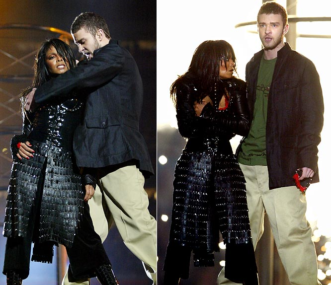 To recap for those who don't remember the halftime show at Super Bowl XXXVIII: Jackson was performing with Justin Timberlake, he ripped off part of her shirt and her breast was exposed to the nation.