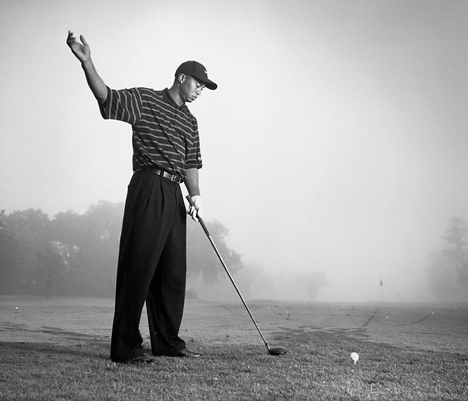 """The first time I followed Tiger Woods, I wanted to recreate a picture Hy Peskin once took of Ben Hogan. I wanted to do it with an old-fashioned 4-by-5 Crown Graphic camera, which meant I had to get close. And getting close to Tiger is a problem. I was really on the edge of the rules. At one point his caddie, Steve Williams, came over and said, 'Excuse me, mate, have you ever covered a golf tournament before?' I'd covered about 15 majors, but I just said, 'Yes, sir.' From that point on, he and Tiger kept looking at me because I was still too close. About six months later, I shot Tiger for the cover of <i>SI</i> and finally met him. I mentioned how I'd covered him that day and said, 'Did you notice me?' He said, 'Every hole.' """