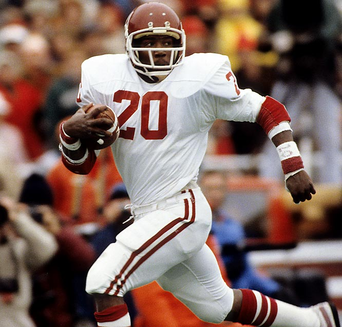Oklahoma's Sims is the closest to come to a repeat before or after Archie Griffin's 1974-75 feat. He led the nation with 22 rushing touchdowns but finished 922 points behind USC's Charles White in the voting.