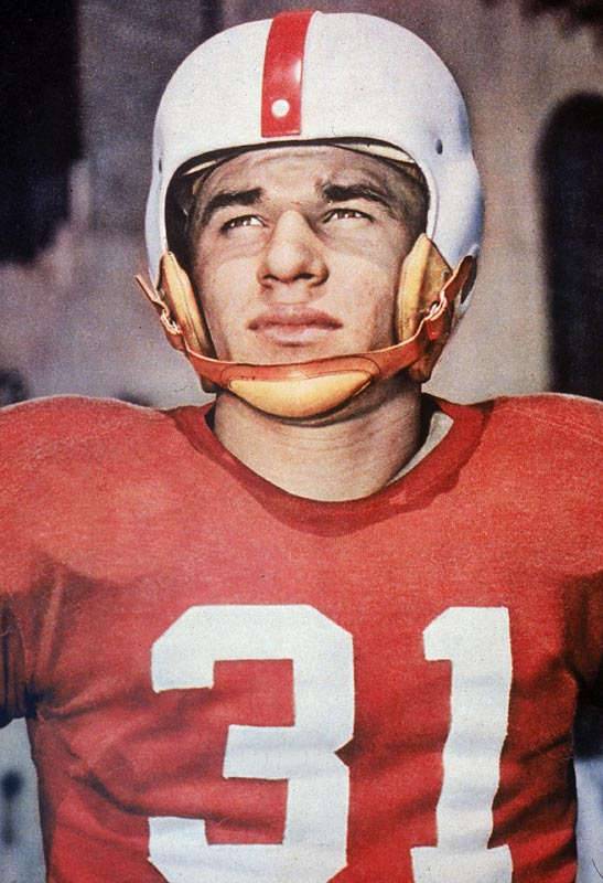 The Ohio State runner was a triple threat out of the single wing, but his follow-up campaign was stalled as new coach Woody Hayes arrived in Columbus and installed the T-formation. Janowicz rushed for 376 yards as a senior and completed just seven passes.