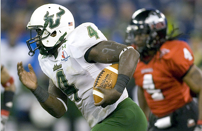 Mike Ford ran for a career-high 207 yards and scored one touchdown, B.J. Daniels threw two scoring passes to A.J. Love, and South Florida rolled past Northern Illinois.