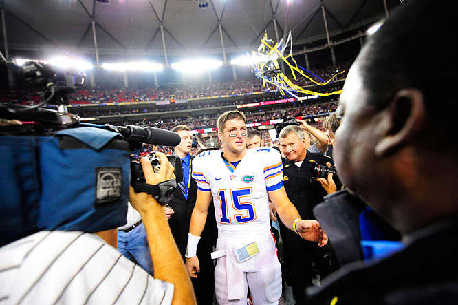Tim Tebow's senior season won't end with a repeat national championship.
