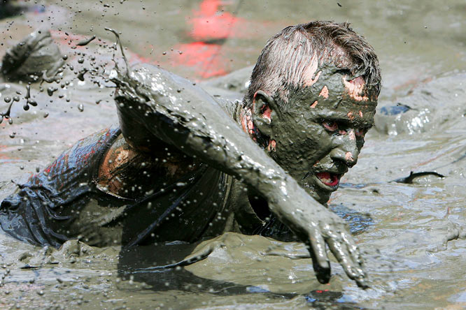 More than 750 competitors took part in the first Mud Run race at Glenworth Valley in Australia on Dec. 5.
