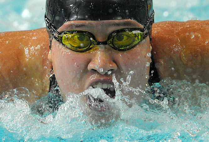 Liu Zige of China competes in the 200m butterfly final during the 2009 East Asian Games in Hong Kong on Dec. 6.