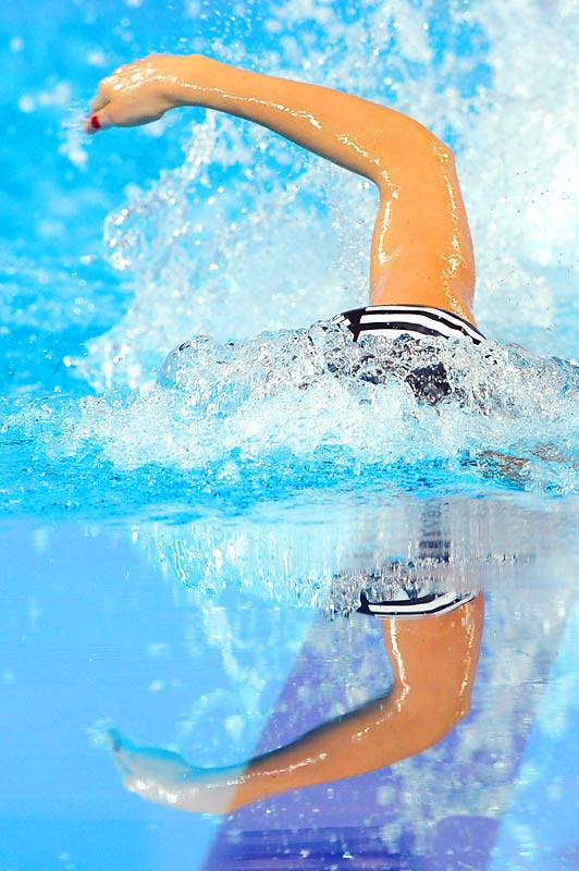 Franziska Jansen  of Germany during the 800m freestyle at the European Short Course Swimming Championships in Istanbul on Dec. 11.