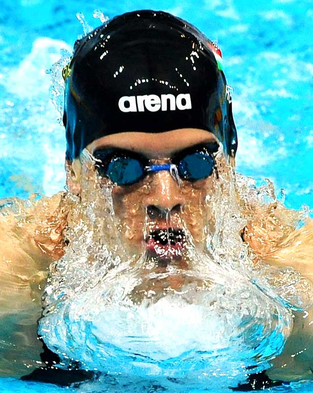 Daniel Gyurta of Hungary won the 200-meter breaststroke with a world-record time of 2:00.67 at the European short course championships in Istanbul on Dec. 13.