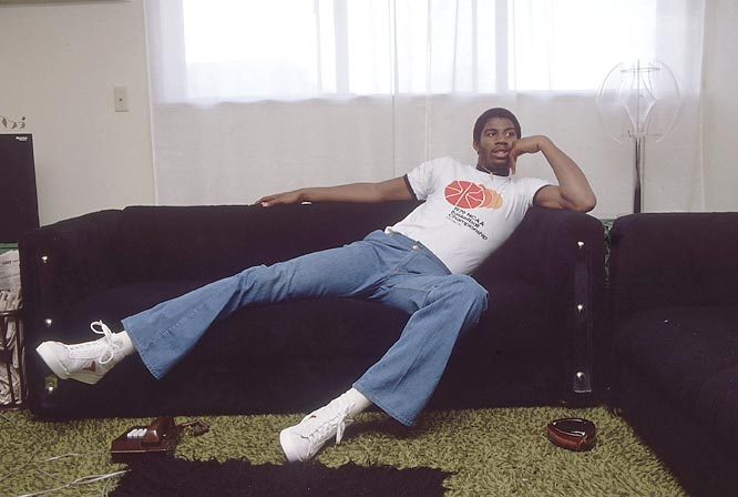 Magic enjoys some downtime on his couch.