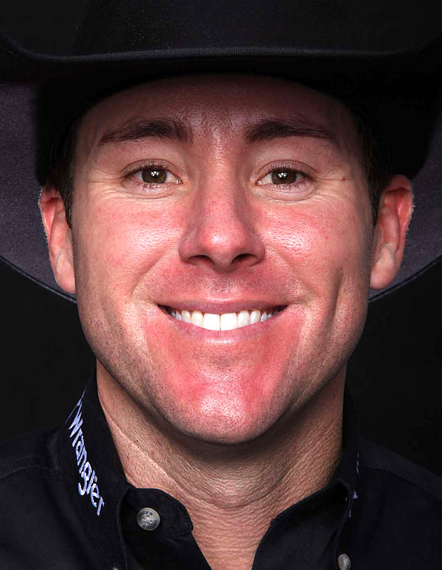 The National Finals Rodeo was held in Las Vegas on Dec. 12 with Trevor Brazile winning a record-tying seventh all-around world title, Here are portraits of the winners and a shot of their championship buckles.
