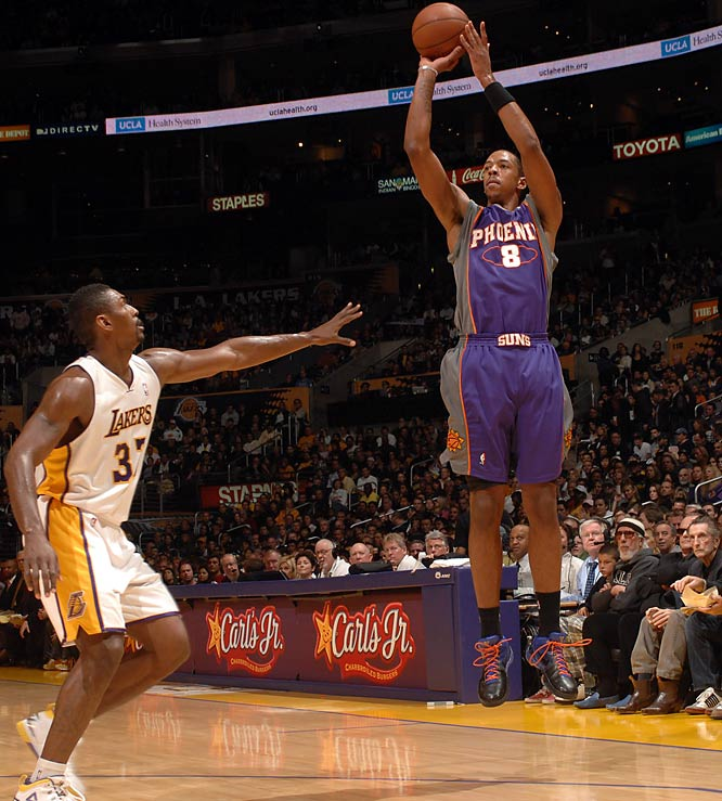Projected by many as no better than the West's eight-best team, the Suns raced to an 8-1 start that included a road win at Boston. Phoenix has cooled off a bit, but it's still in early position for home-court first-round advantage and is the league's only unbeaten team at home. Steve Nash and Amar'e Stoudemire have been excellent, but the real revelation is center Channing Frye (pictured), who has made 62 three-pointers after hitting only 20 in his first four NBA seasons.