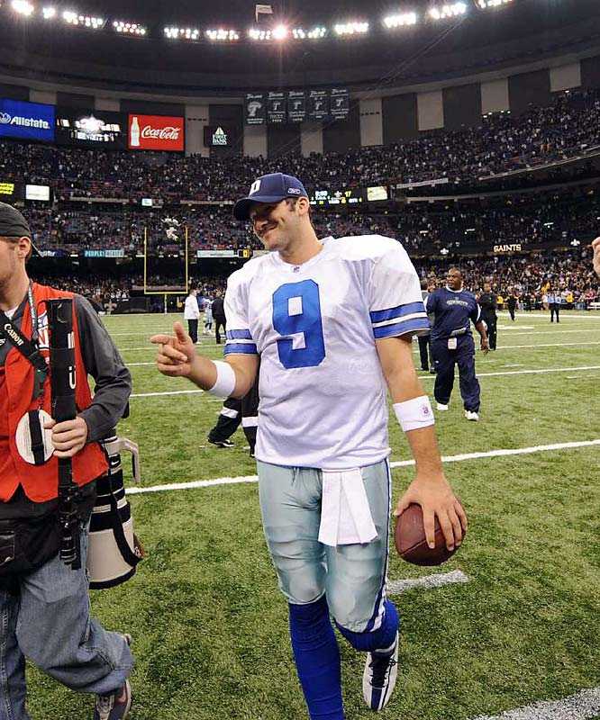 Romo made the celebrity headlines for dating Carrie Underwood and Jessica Simpson. On the field, he's weathered the T.O. storm and accusations that he favored throwing to tight end Jason Witten.