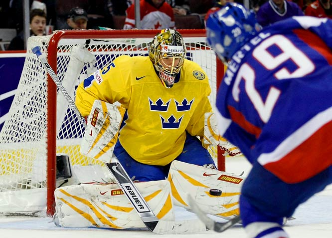 He was lit up for five goals by Team Canada in exhibition action, but the player some consider to be the best netminder outside the NHL shouldn't be written off. A second-round pick of the Panthers in 2008, the 19-year-old Markstrom is dominating the Swedish Elite League, ranking second in goals-against and save percentage. If he repeats his Top Goalie form from the 2009 event, Sweden has a real shot at gold.