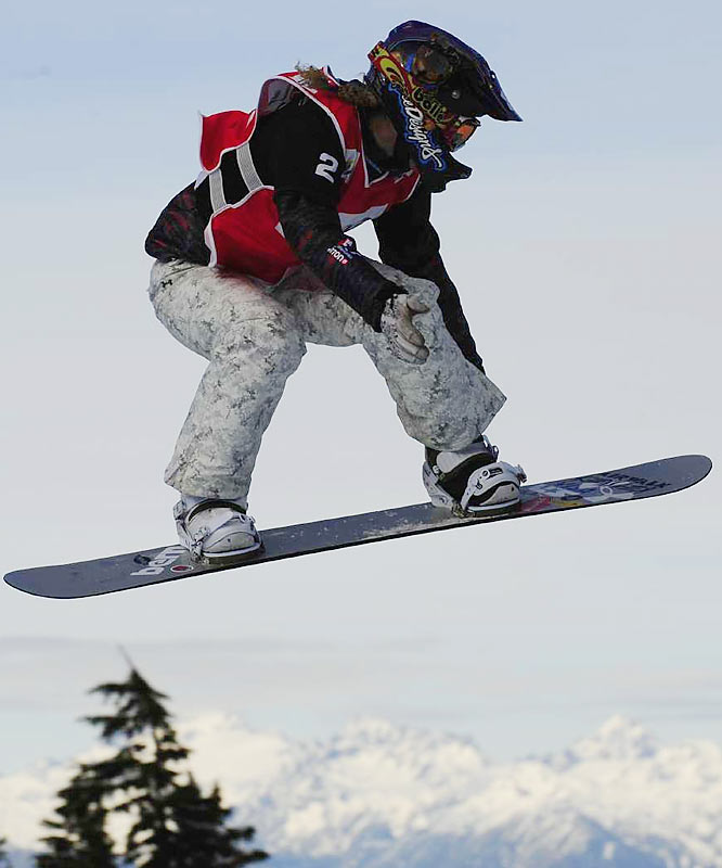 Even though Jacobellis has been a dominant figure in her event, with five gold medals and a silver at the X Games in the frenetic event of snowboard cross, she is still remembered as the hot dogger who blew a lead in the final stretch of the 2006 Olympics. That's where she fell while attempting a showy, but unnecessary, board grab before crossing the finish line. After getting up, she finished second behind Switzerland's Tanja Frieden.