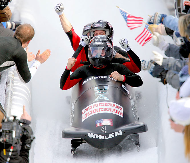Sled drivers need eagle eyes to see, right? In 2008, Holcomb could barely see at all and needed corrective surgery to repair a degenerative eye disorder that was slowly blinding him. A year later he drove the U.S. men's four to its first world title in half a century.