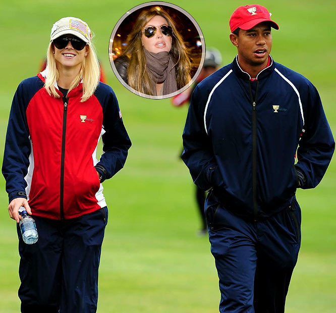 There's nothing like an alleged love triangle to spice up the holiday season. No one really knows what caused Woods' one-car accident on Thanksgiving night, but it's interesting to watch the media speculate. I'm sure tabloid reports that Woods had an affair with Uchitel had nothing to do with his wife's swinging a golf club into both of the SUV's rear windows. She was just trying to, um, rescue him from his car. Yeah, that's the ticket.