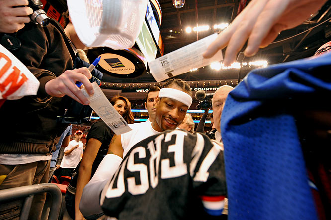 The honeymoon between Philadelphia and A.I. should last about a week before Sixers fans realize Iverson won't do anything to turn around the fortunes of a team that has lost 10 straight. At least Sixers fans have use for their old Iverson jerseys that have either been picking up dust in the closet or used to wash the car on weekends.